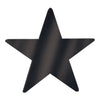 Party Decorations - 15 inch Die-Cut Foil Star- Black