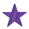 Party Decorations - 15 inch Die-Cut Foil Star- Purple