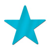 Party Decorations - 15 inch Die-Cut Foil Star- Turquoise