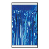 2-Ply Metallic Fringe Drape - blue