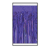 2-Ply Metallic Fringe Drape - purple