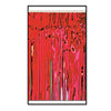 2-Ply Metallic Fringe Drape - red
