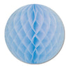 Party Decorations - Packaged Tissue Ball - lt blue
