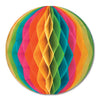 Party Decorations - Packaged Tissue Ball - multi-color
