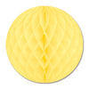 Party Decorations - Packaged Tissue Ball - yellow