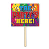 Birthday Party Supplies - The Party's Here Yard Sign