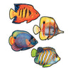 Luau Party Supplies - Packaged Coral Reef Fish Cutouts