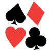 Casino Party Supplies - Card ''suit'' Cutouts
