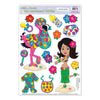 Baby Shower Party Supplies: Hula Baby Peel 'N Place Clings