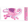 Birthday Party Supplies - Flying Dragon Peel 'N Place Clings