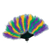Mardi Gras Party Supplies - Mardi Gras Feather Fan