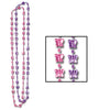 Butterfly Beads - assorted lavender & pink