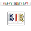 Metallic Happy Birthday Banner -