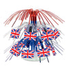 British Flag Mini Cascade Centerpiece - British