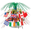 International Flag Mini Cascade Centerpiece ->