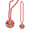 Beads with International Flag Medallion