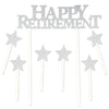 Happy Retirement Cake Topper (Pack of 12)