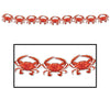 Beistle Crab Streamer (Pack of 12) - Luau Party Decorations, Luau Party Streamers, Luau Party Supplies