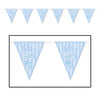 Beistle It's A Boy! Pennant Banner (Pack of 12) - Baby Shower Decorations