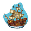 Beistle Pirate Ship Wall Plaque (Pack of 12) - Pirate Party Decorations, Pirate Party Supplies