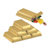 Beistle Foil Gold Bar Favor Boxes (12 packs) - Pirate Party Decorations, Pirate Party Supplies
