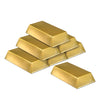 Western Party Supplies - Plastic Gold Bar Decorations