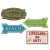 Luau Party Supplies - Beach Sign Cutouts