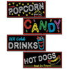 Awards Night Party Supplies - Neon Food Sign Cutouts