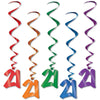 Birthday Party Supplies - '21' Whirls