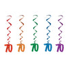 Birthday Party Supplies - '70' Whirls