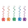 Birthday Party Supplies - '90' Whirls