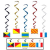Nautical Flag Whirls - Nautical Party Theme
