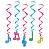 Neon Musical Note Whirls