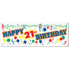 Happy ''21st'' Birthday Sign Banner - Signs and Banners