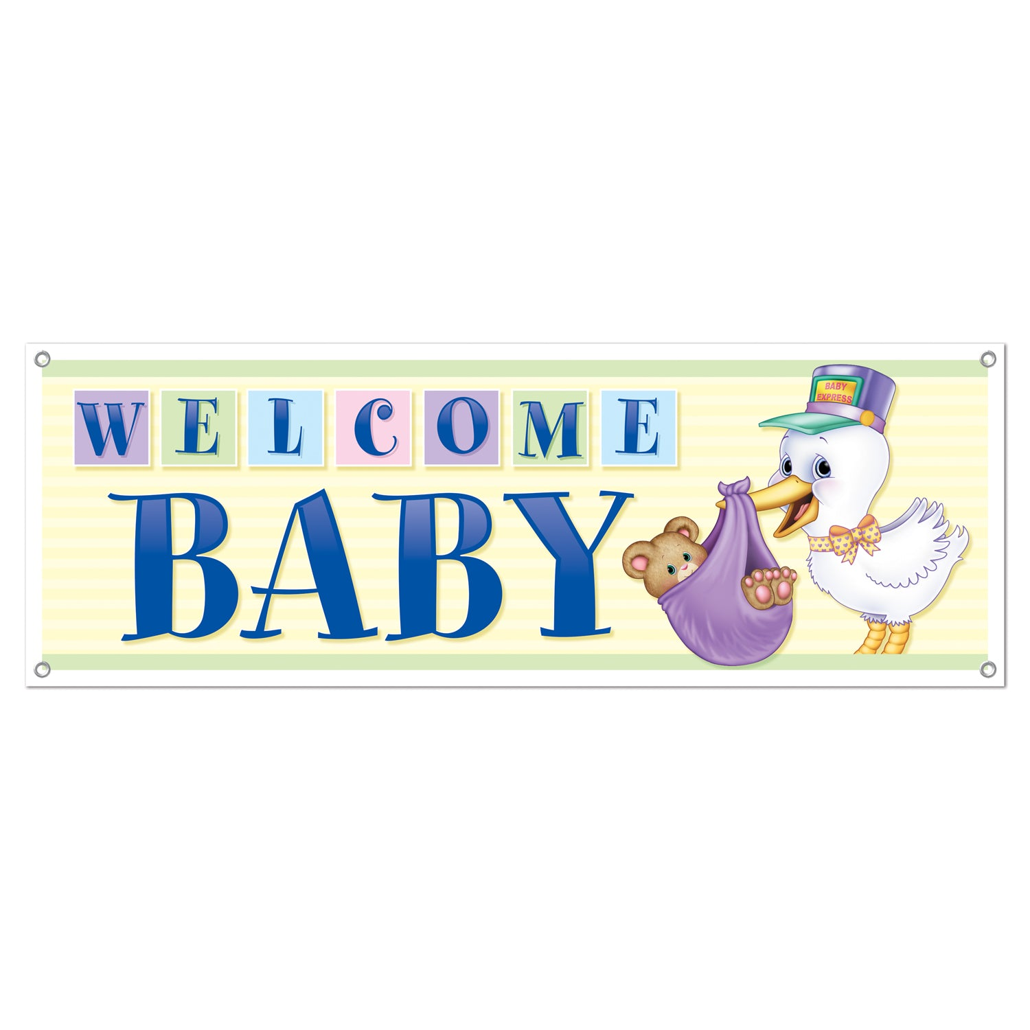 Case Of 12 Beistle Welcome Baby Sign Banner