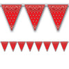 Beistle Bandana Pennant Banner (Pack of 12) - Western Party Decorations, Western Party Theme