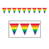 Party Decorations - Rainbow Pennant Banner