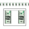 $100 Bill Pennant Banner Casino Party Decorations (12/Case)