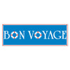 Bon Voyage Sign Banner - Nautical Party Theme