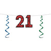 21'' Glittered Streamer - Birthday Party Streamers