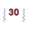 30'' Glittered Streamer - Birthday Party Streamers