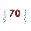 70'' Glittered Streamer - Birthday Party Streamers