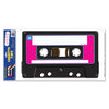 Rock & Roll Party Supplies: Cassette Peel 'N Place Clings