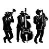 Mardi Gras Party Supplies - Jazz Trio Silhouettes