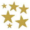 Gold Glittered Foil Star Cutouts, party supplies, decorations, The Beistle Company, Awards Night, Bulk, Awards Night Party Theme