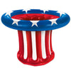 Beistle Inflatable Patriotic Hat Cooler (Pack of 6) - 4th of July Political and Patriotic, Polictical and Patriotic Decorations
