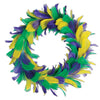 Mardi Gras Party - Feather Wreath