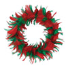Feather Wreath Christmas Decoration
