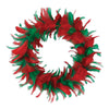Christmas Feather Wreath Decoration