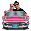 Rock and Roll Party Supplies - Pink Convertible Photo Prop